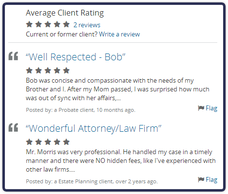 See What Customers Have Said About Bob Morris