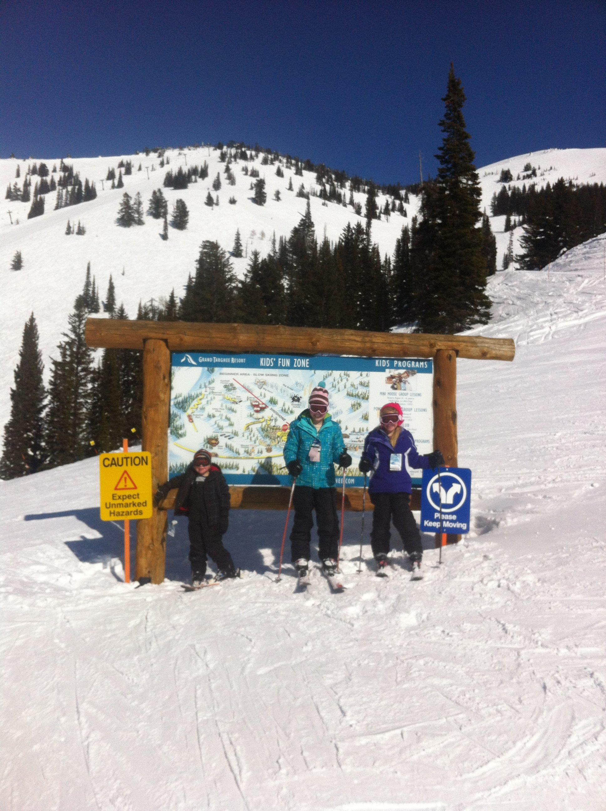 Bob's kids at the top the Shoshone ski run