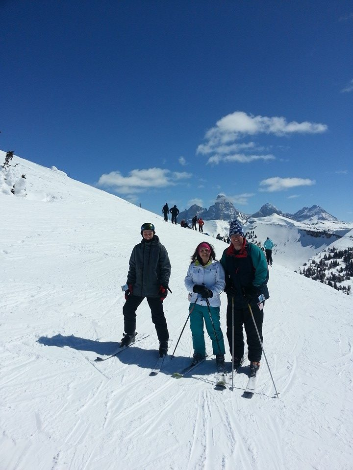 Grand Targhee - David with wife Kathryn and son David Jr.